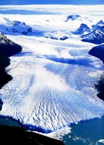 Veduta aerea del Ghiacciao Perito Moreno